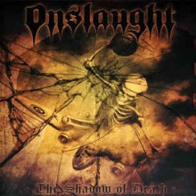 "Onslaught - The Shadow Of Death (12"" LP Limited edition on yellow vinyl in a gatefold sleeve. Materi"
